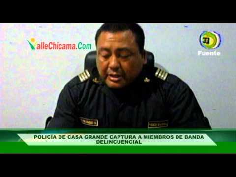 Policia de Casa Grande captura a miembros de banda delincuencial