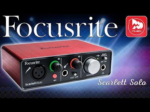 FOCUSRITE Scarlett Solo - дешевая и качественная звуковая карта для записи дома