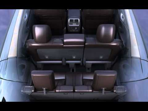 2013 Infiniti JX - второй ряд сидений, обзор