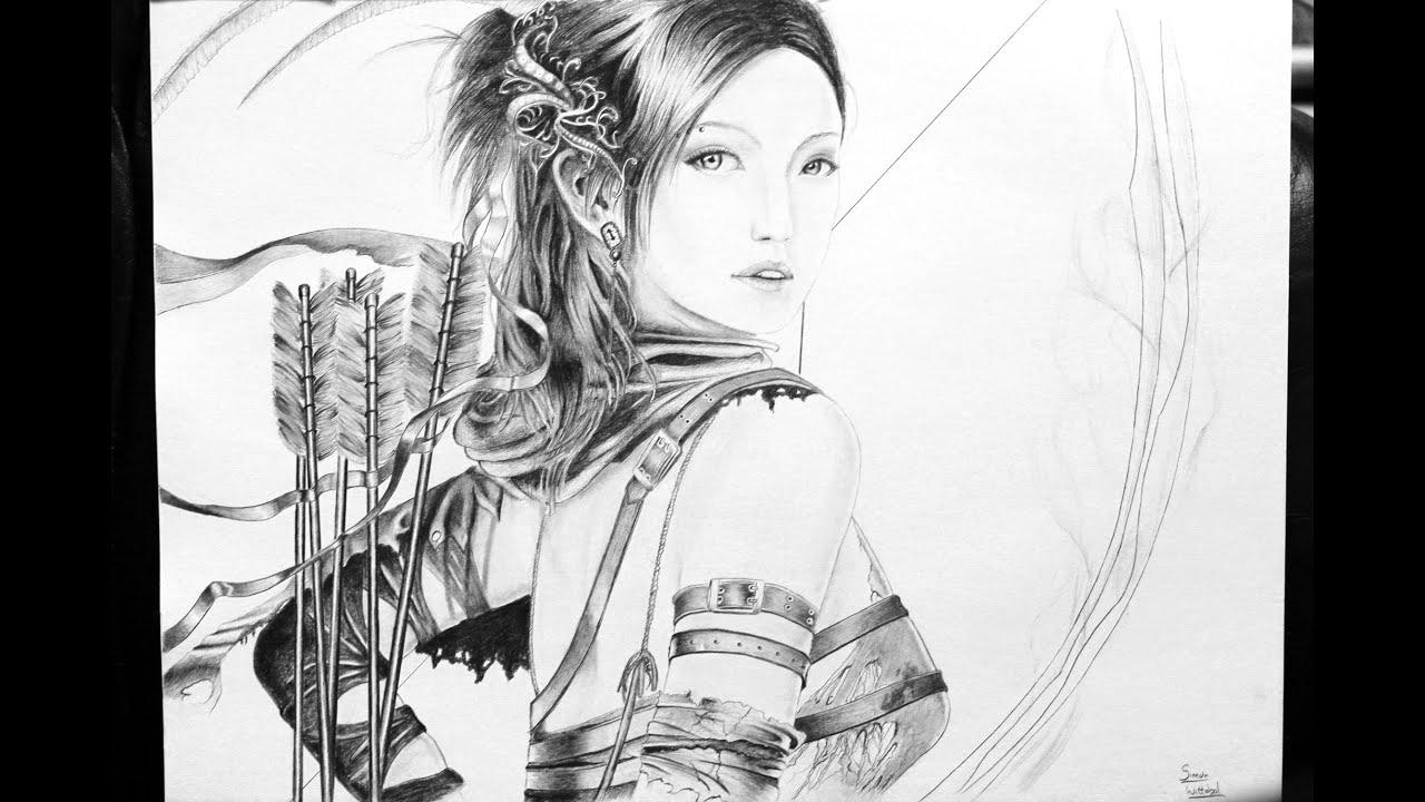 Fantasy Archer Drawing