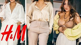 🌸 NEW in H&M- Spring TRY-ON HAUL   WORK FASHION TRENDS    NA-KD ASOS   2019