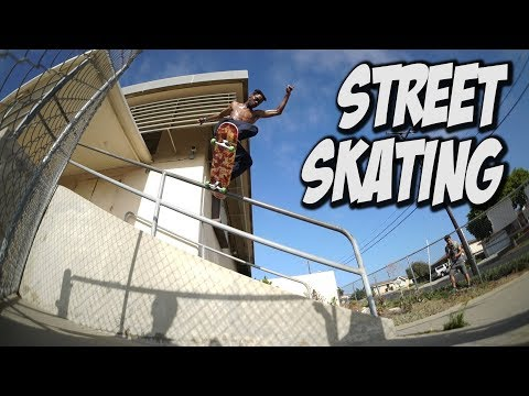 STREET SKATING WITH TERRILL JEFFERSON AND FRIENDS !!!