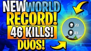 NEW DUOS WORLD RECORD 46 KILLS! (Fortnite Battle Royale)