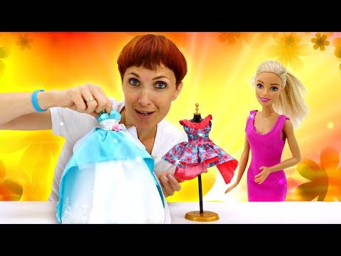Маша Капуки и подарок для Барби - платье. Видео для девочек.