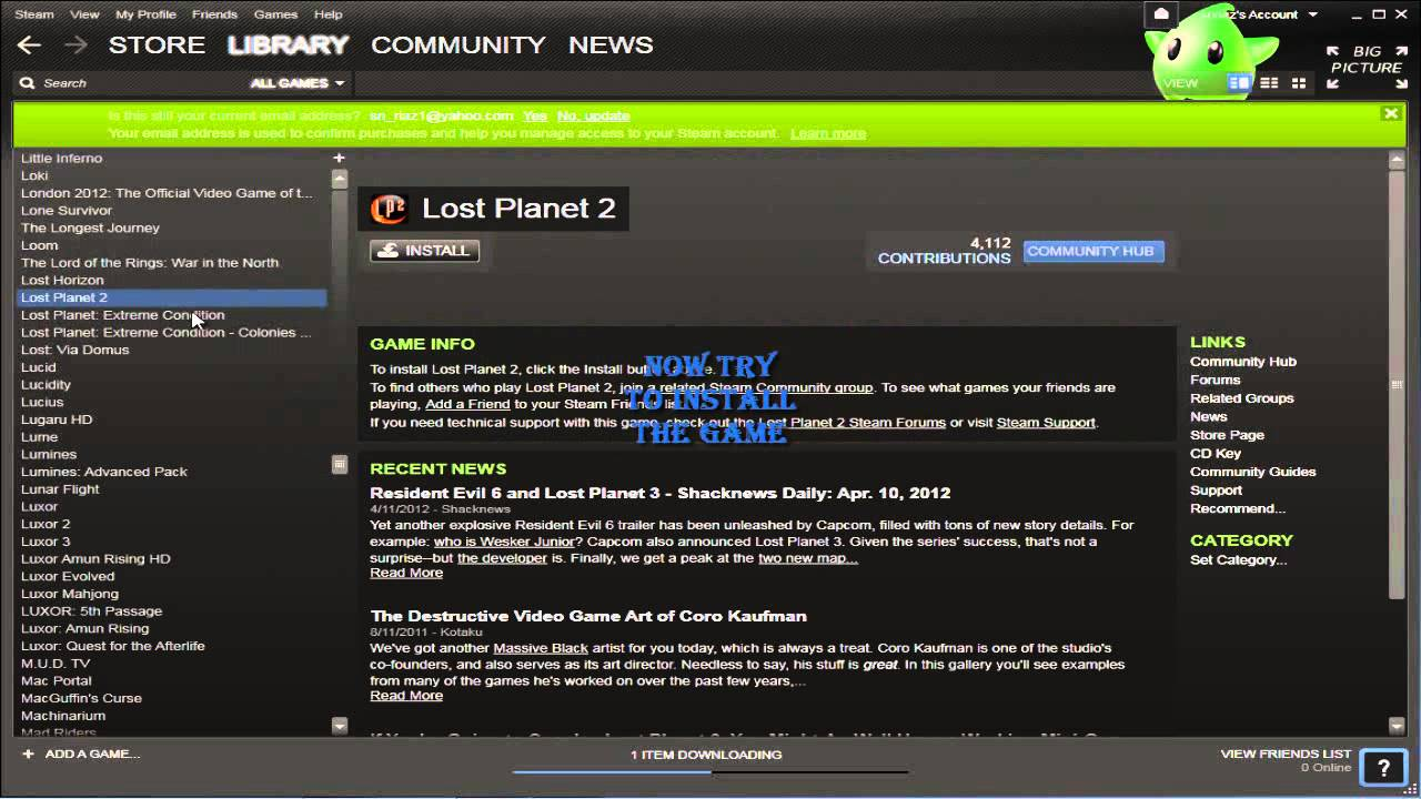 How to download games from cracked steam without any error