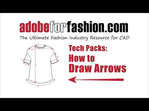 Adobe for Fashion: Tech Packs- Drawing Arrows in Illustrator