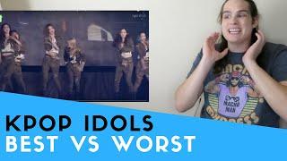 Voice Teacher Reacts to Kpop Idols WORST vs. BEST Live Vocals