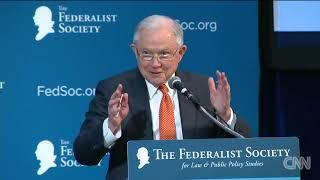 Sessions cracks Russia joke in speech