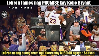 Ang MENSAHE ni LeBron James kay Kobe Bryant | Lakers Vs. Clippers Postponed