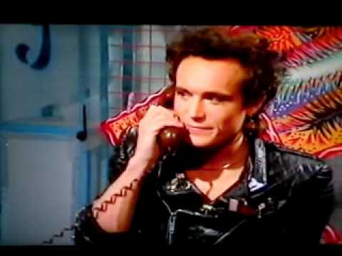 Adam Ant on Saturday SuperStore promoting his puss in boots song