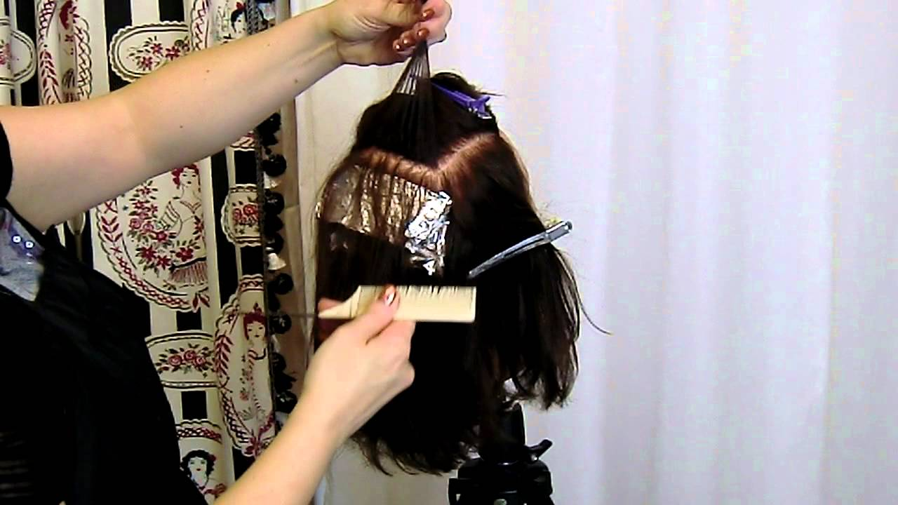 Basic Foil Placement for Beginner Stylists - YouTube
