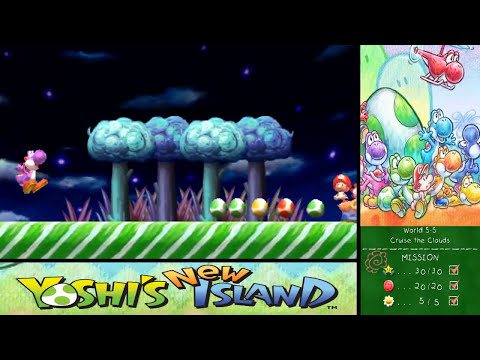 Yoshi's New Island 100% Walkthrough - World 5-4, World 5-5 & World 5-6