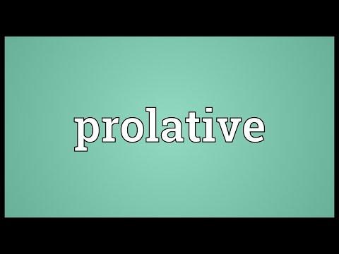 Header of prolative