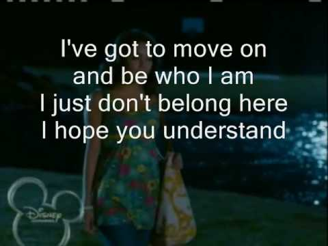 Troy & Gabriella - Gotta go my own way with lyrics