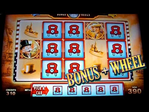 Bonus Wheel Super Monopoly Money 5c WMS Slots