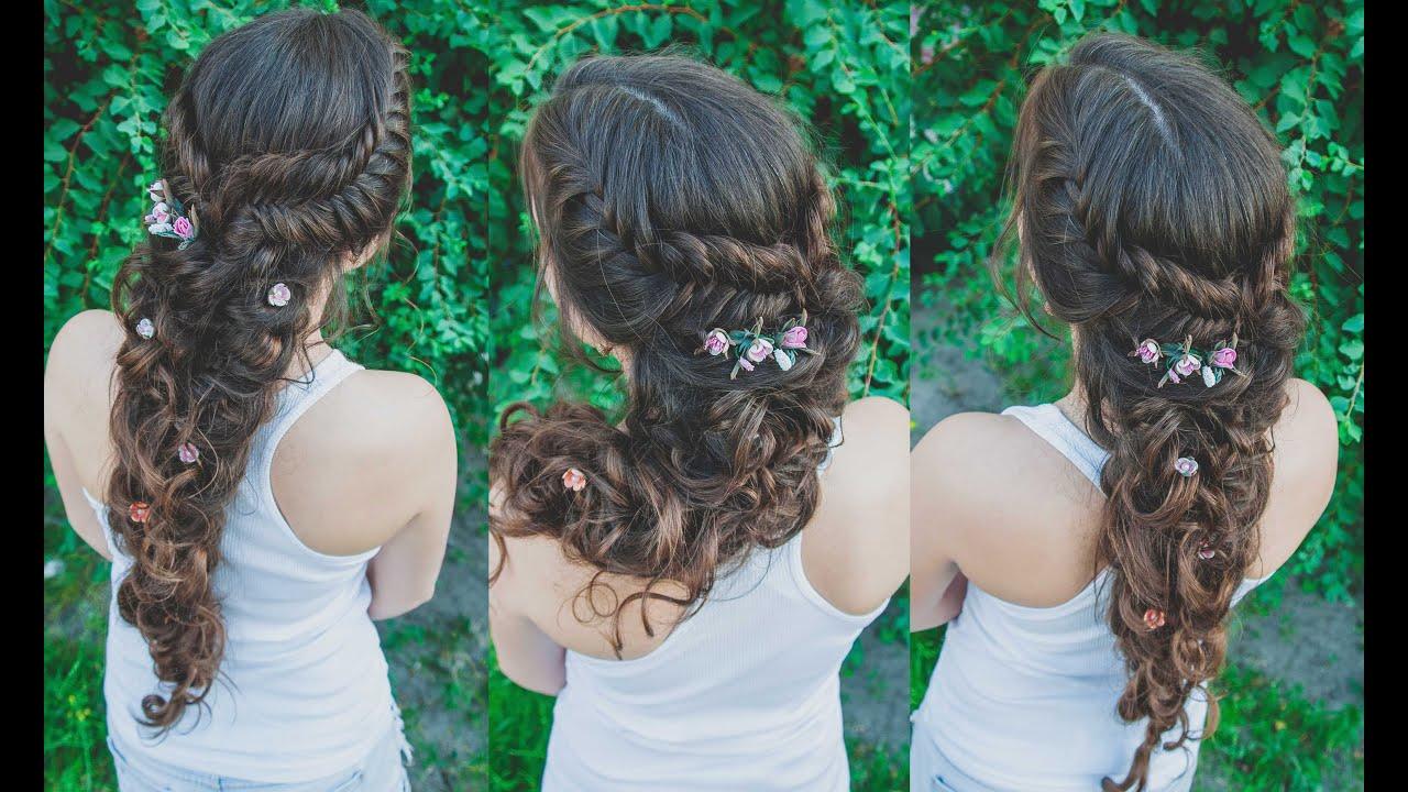 Прическа греческая коса как делать