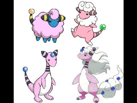 Shiny Mareep Pokemon x Shiny Mareep/flaffy/ampharos