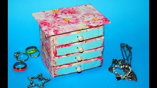 Hand Made Matchbox Craft | Easy Jewelry box making tutorial | Julia DIY