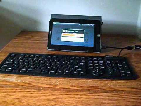 Plugging A USB Keyboard In To The Coby Kyros MID7015.wmv
