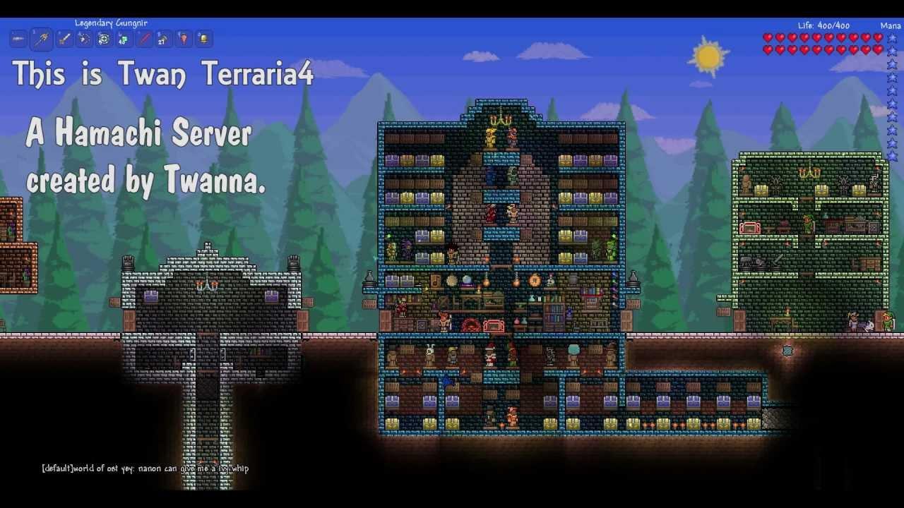 Как сделать сервер на terraria
