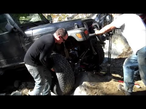 Changing Blown Out Tire At Hut Lake 4x4 Trail