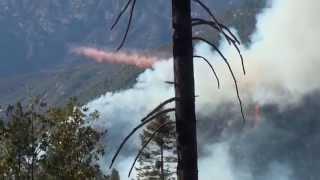 Yosemite Fire Bomber Drop Dog Rock Fire 10 7 14
