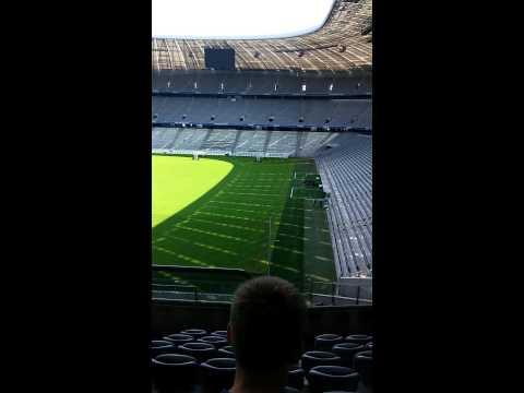 Adentro del Allianz arena