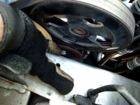 AC. Power steering. Serpentine belt replacement Mitsubishi Lancer ES 2005