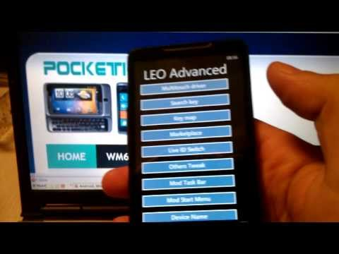 HTC HD2 Running Windows Phone 7.8 OS 7.10.8862.144 (pdaimatejam ROM v8.9)