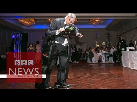 Paralysed Father 'walks' At Daughter's Wedding In A 'robo-suit' - Bbc News video