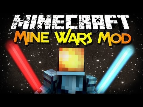 Minecraft Mod Showcase: Mine Wars - Lightsabers, Mobs, Butter, and MOR...