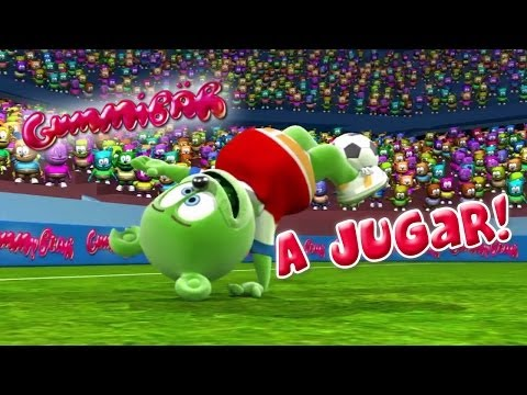 Gummibär A Jugar! World Cup Soccer football Song Chilean Spanish Gummy Bear Osito Gominola video