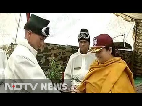 Smriti Irani carries home-made 'mithai' as Rakhi gift for soldiers