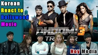 Korean React to 'DHOOM3'' Bollywood movie trailer [ENG SUB]
