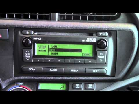 2012 Toyota Prius C Automatic Sound Levelizer How To By