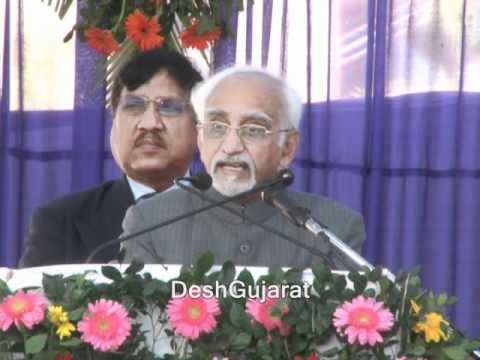 Hamid-Ansari speaks at GNLU new campus inauguration