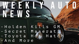 GM Kills Holden, Secret Maserati Supercar, Toyota Hot Hatch, and More | Auto News 2/21/2020