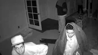 Home robbery caught on  camera. East San Jose, California. Suspect were young and armed Mexican kids