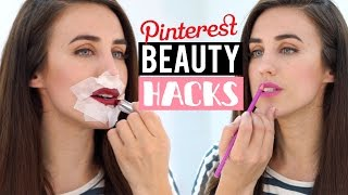 PROBANDO Tips de belleza de pinterest  | Beauty hacks pinterest tested