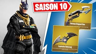 BATMAN ARRIVE SUR FORTNITE AVEC SON GRAPPIN ET SES GRENADES ! (FORTNITE x BATMAN)