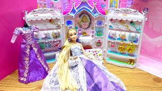 Princess Barbie Rapunzel Pink Dream House Morning Outfit Jewelry Castle Accessory Dress