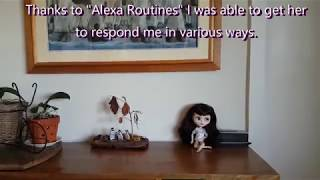 Alexa blinks her eyes and responds to various commands through Wemos D1 mini and servo.