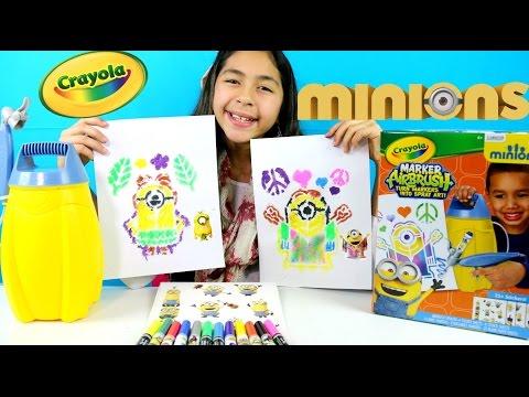 CRAYOLA Minions Airbrush Marker Review| B2cutecupcakes