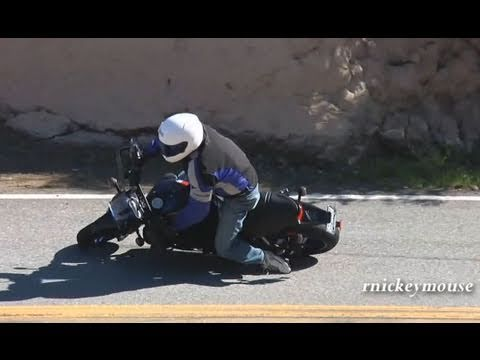 Grabbed Front Brake in Turn - Buell Lowside Motorcycle Crash