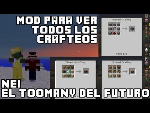 Minecraft MOD   NEI (Not Enough Items)   Mod para Ver los crafteos (Incluso de otros MODS)