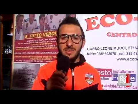Il Real Madrid a San Severo con la Gioventù Calcio San Severo. Intervista per TELEFOGGIA SPORT a Gianluca Cassone
