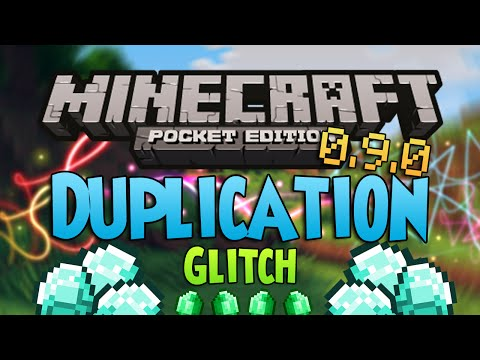 NEW DUPLICATION GLITCH! - Minecraft Pocket Edition 0.9.0 (Unlimited Items) - Tutorial