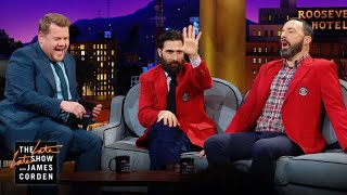 Jason Schwartzman & Tony Hale Love CBS Blazers & Beards