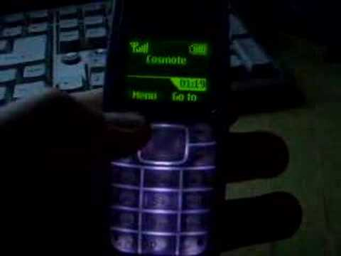 Clock on Nokia 1110 Phone