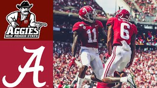 New Mexico State vs #2 Alabama Highlights | NCAAF Week 2 | College Football Highlights